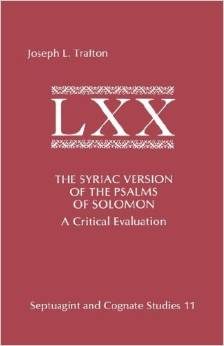 The Syriac Version of the Psalms of Solomon