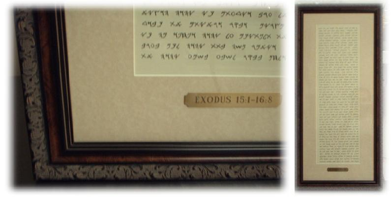 Framed Torah Panel (EX)